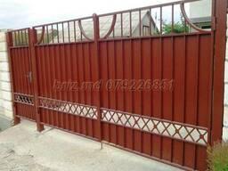 Ворота сварные и кованые от 10 тыс лей. решетки заборы и др.