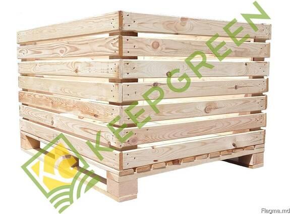 Containere din lemn pentru mere ( legume si fructe)