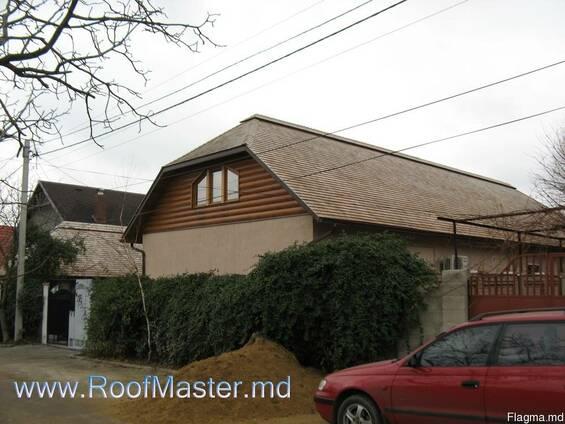 Натуральная деревянная крыша в Молдове