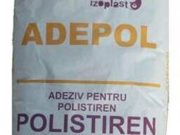 Клей для приклеивания полистирола Adepol Polistiren 25 кг