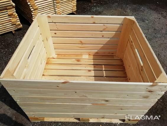 Контейнер деревянный для яблок