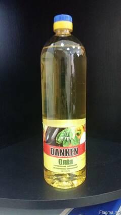 """Подсолнечное масло"""" данкен"""" рафинированное 1 литр."""