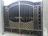 Решетки перила ворота заборы навесы ковка металлоконструкции - фото 3