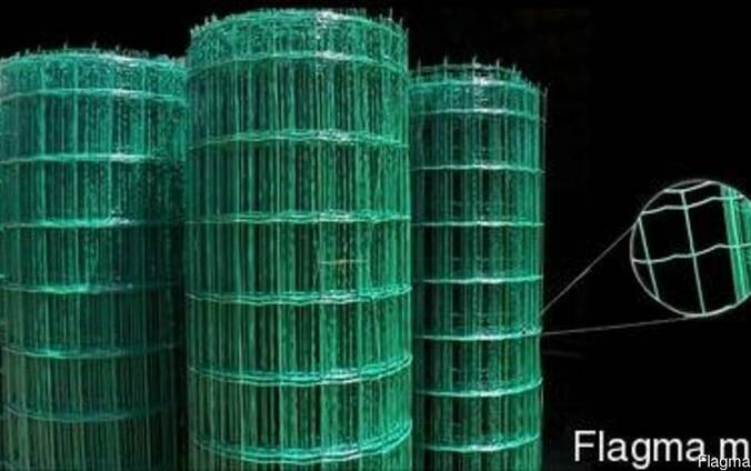 Сетка сварная с ПВХ покрытием (зеленая)
