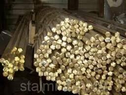 Шестигранник латунный лс59-1. Д3-36х3000 мм. Порезка. Цена