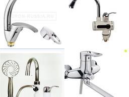 Смесителя с подогревом и без подогрева воды для кухни, ванны, умывальника