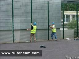 Установка металлических заборов. Gard metalic instalare