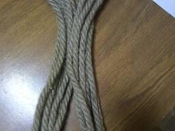 Веревка хозяйственная 100% лен/ хлопчатобумажная/полиамидная