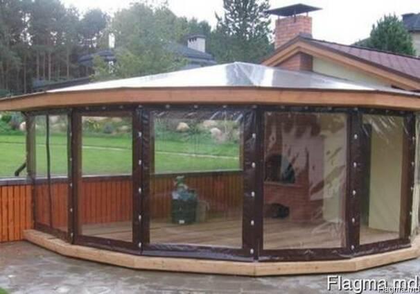 Защитные шторы для беседок, веранд и террас