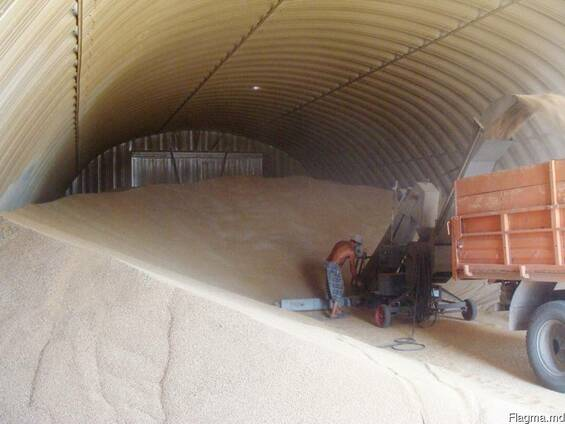 Зернохранилища, зерносклады, стальные арочные амбары